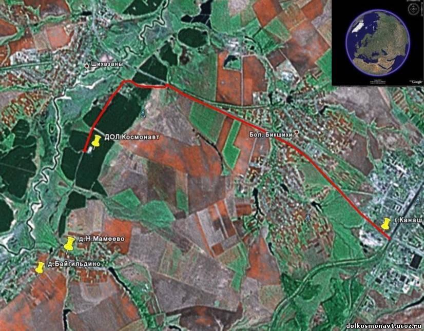 Схема проезда на карте со спутника google